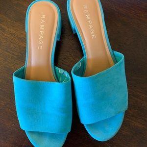 Rampage Women's Aqua Blue Heel Sandals 8.5